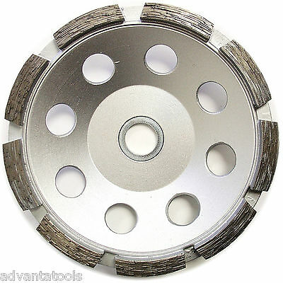 "5"" Single Row Concrete Diamond Grinding Cup Wheel for Angle Grinder - Premium"
