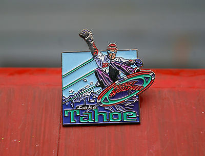 Planet Hollywood Lake Tahoe Silver Tone Metal & Enamel Lapel Pin Pinback