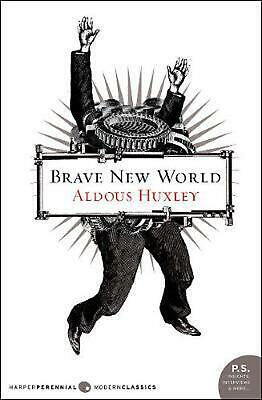 Brave New World by Aldous Huxley (English) Paperback Book Free Shipping!