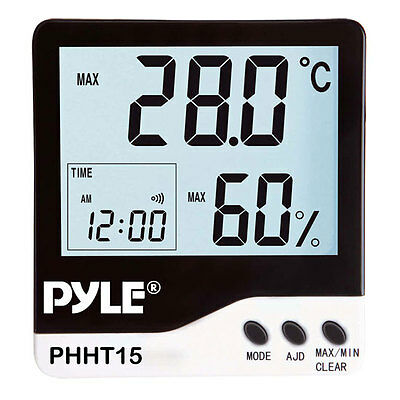 New Pyle PHHT15 Indoor Digital Hygro-Thermometer