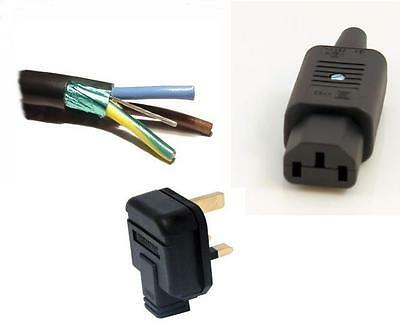 Belden 19364 Diy Mains Power Cable Set | Mains Plug | Iec Connector | Audiophile
