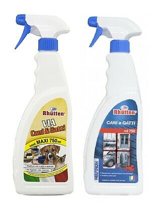 Spray Repellente Disabituante Dissuasore Allontana Via Cani E Gatti Pipistop
