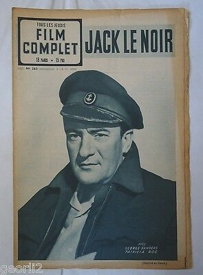 GEORGE SANDERS/BLACK JACK/ photonovel