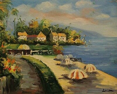 """Seascape High Quality Oil Painting On Canvas On Stretched Wood  8"""" x 10"""""""