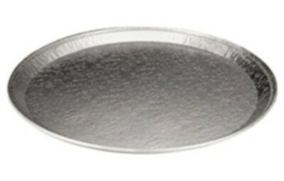 """18"""" Round Flat Aluminum Foil Catering Tray 10 Pack - Disposable Foil Serving Pan"""