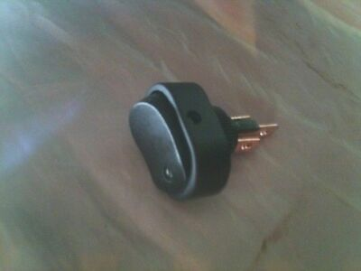 Oval rocker switch ON-OFF with green LED