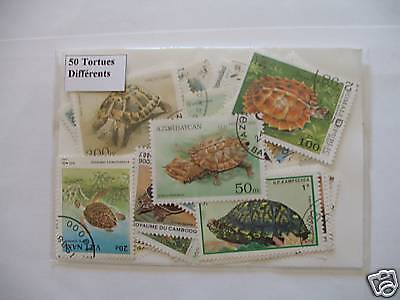 Timbres Reptiles : Tortues : 25 Timbres Tous Différents / Stamps Turtles