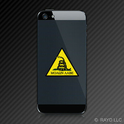 (2x) Molon Labe Triangle Don't Tread On Me Cell Phone Sticker Decal 2A Rights