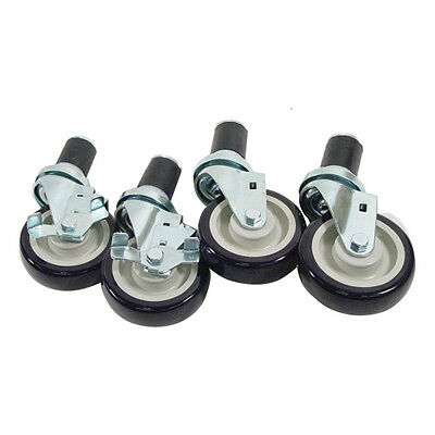 "Caster Set for Work Tables, 1 5/8"" expanding Stem 4"" wheels 35805"