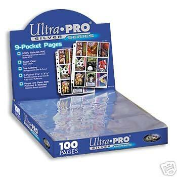10  Ultra Pro 9 POCKET COUPON PAGES FOR 3 RING BINDER