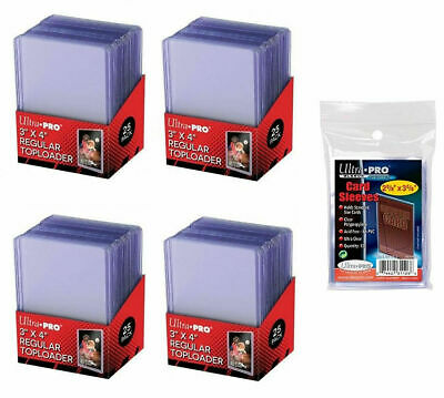 125 Ultra Pro 3X4 Toploaders Ideal For Standard Baseball Cards
