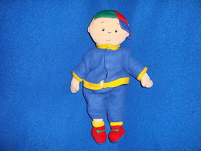 "Caillou Plush 2001 beanbag doll 10"" removable outfit"