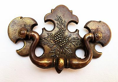 Brass Pine Cone Antique Hardware Vintage Chippendale Drawer Pull 2 1/2 center