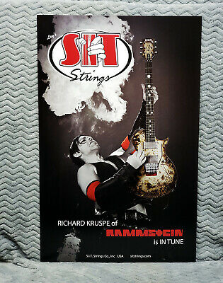 Rammstein *Richard Kruspe* SIT Strings Promo Poster<<>>L@@K