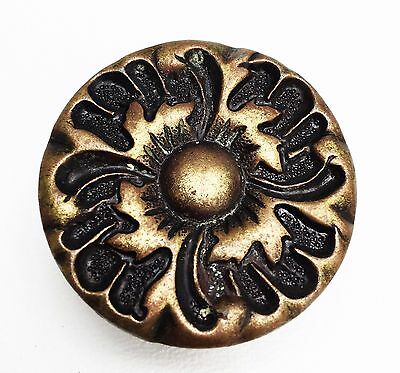 Brass Flower French Provincial drawer pull MCM Cabinet knob antique hardware