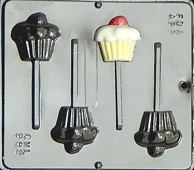Cupcake Lollipop Chocolate Candy Mold  282 NEW