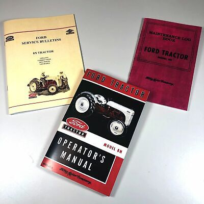 Ford 8N Tractor Operators Owners Manual Includes Service Info New Print