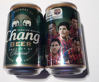 EMPTY - CHANG Ayutthaya BEER Can THAILAND 330ml BARCELONA Promo Collect 2012