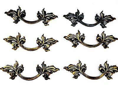 "Gorgeous  French Provincial Drawer Pull Architectural Antique Hardware 3"" center"