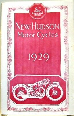 1929 The New-Hudson Motorcycle  Sales Book Fully Illustrated,   Photos & Specs.