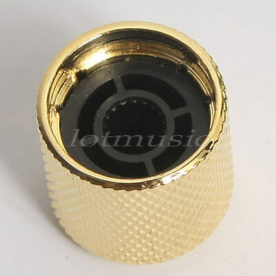 4pcs Gold Metal Guitar Dome Knob Control for FD Tele