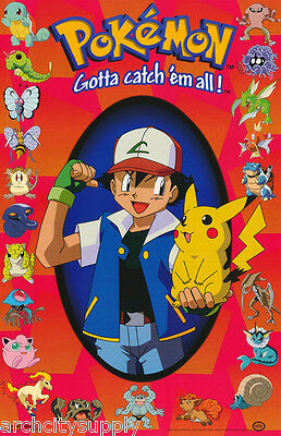 Poster : Tv: Pokemon - Characters     Free Shipping !  #392  Rap15 A