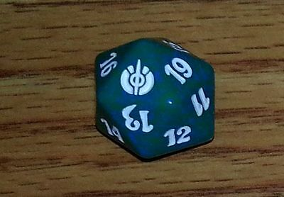 1 Blue SPINDOWN Die Eventide 20 sided Spin Down Dice MtG Magic the Gathering