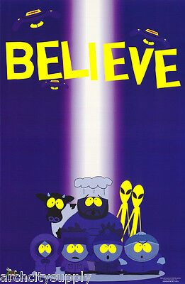 Poster : Tv: Cartoon:: South Park - I Believe In    - Free Ship  #3428   Rap5 B