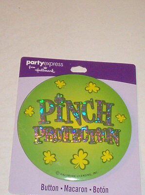 """HALLMARK PARTY EXPRESS ST PATRICK'S DAY BUTTON """"PINCH PROTECTION""""   STP1"""