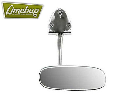 Vw Oval Classic 1953 57 Polished Chrome Rear View Mirror For Early Beetle T1 Bug