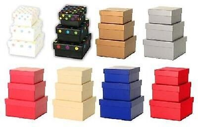 Simon Elvin Set Of 3 Small Stackable Gift Boxes Various Colours Available