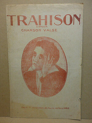 Trahison D'amour / Charlys / Partition