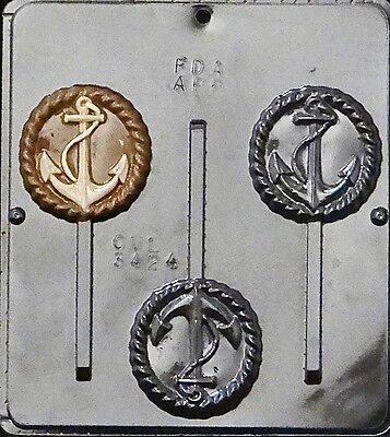 Anchor Lollipop Chocolate Candy Mold  3424 NEW