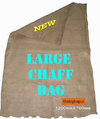 10 x Hessian Chaff Bag - LARGE & NEW (1220 x 760) - Weed Mat / Sack Races