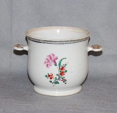 Antique Chinese Export Porcelain Sugar Bowl Famille Rose Flowers No Lid