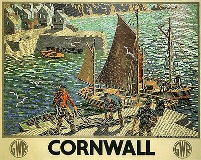 GWR Great Western Railway, Cornwall 1936 - vintage repro poster in 3 sizes