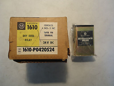 New In Box Allen Bradley 1610-P0420S24 Dry Reed Relay