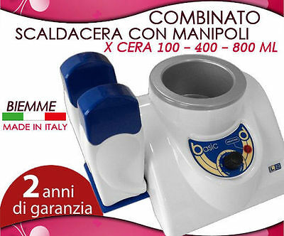 Scaldacera Combinato Biemme Cera 400-800Ml+2Manipoli Made In Italy Garanzi 2Anni