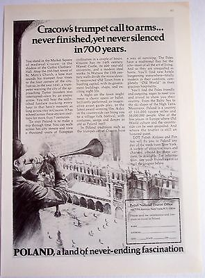 1977 travel promo AD Poland land of never-ending fascination