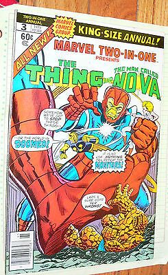 Marvel Two-in-One Annual #3 comic 1978 Thing  The Man Called Nova