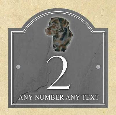 Personalised Brown Labrador Pet Dog House Name Plaque Door House Number Sign