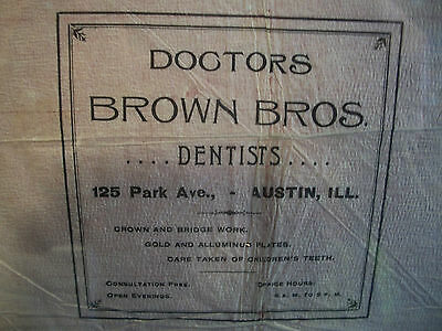 Dental Antique Primitive Folk Art Americana Advertising Trade Sign Collectible