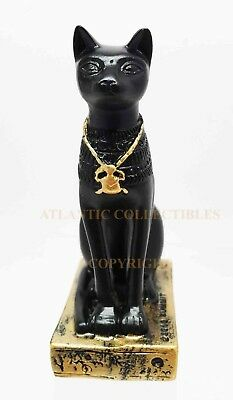 Miniature Ancient Egyptian God Bastet Small Statue Collectible Mummy Figurine