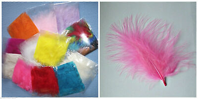 20 Large Fluffy Marabou Feathers 10 - 15 Cm 25 Colours Great Quality  Cake  Hat