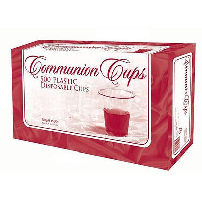 "Communion Cups - Disposable - 1 3/8"" inches - Package of 500 - Broadman - NEW!"