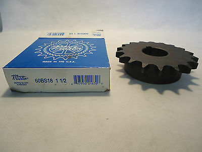 New In Box Martin 60Bs18 1 1/2 Bored To Size Sprocket