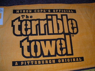 Myron Copes Official The Terrible Towel Gold Edition Nwt