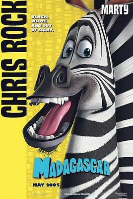 MADAGASCAR MOVIE POSTER 2 Sided ORIGINAL Advance MARTY 27x40