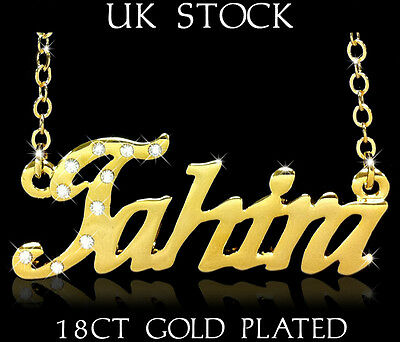 TAHIRA NAME NECKLACE Personalised Fashion Jewellery Designer Gift  Arabic/Muslim