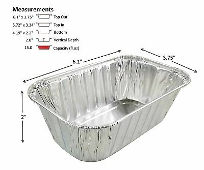 D&W Fine Pack A79 1 lb. Aluminum Foil Mini-Loaf Bread Pan Baking Tin 50 Pack